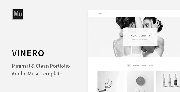 Vinero - Very Clean and Minimal Muse Portfolio Template