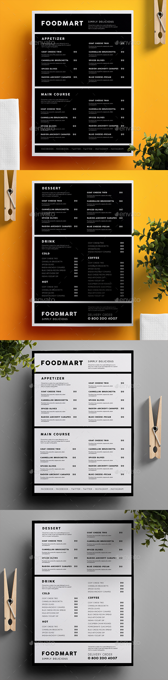 Simple Restaurant Menu 03