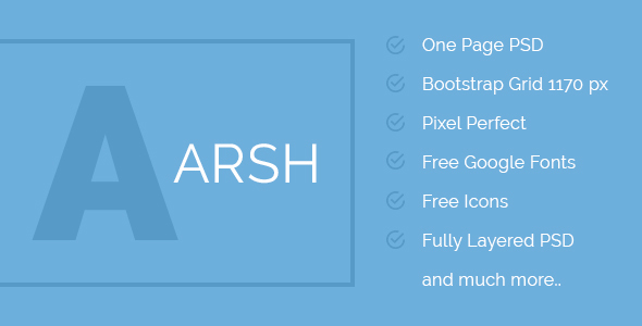 ARSH - Corporate Multipurpose One Page Template
