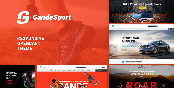 Lexus GrandeSport - Advanced Opencart theme for Sport website