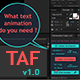 TAF v1.0 - Pro Text Animator for AE