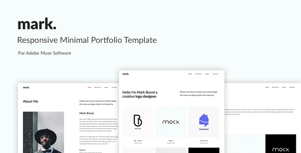 mark. -Minimal Portfolio Muse Template