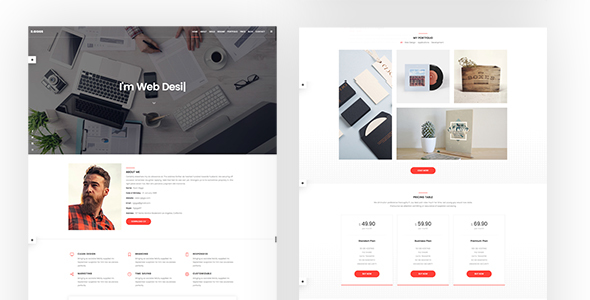 R. Giggs Onepage Vcard Html Template