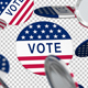 Presidential Election Button Falling
