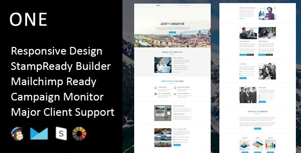 Download One - Multipurpose Responsive Email Template + Stampready Builder nulled download