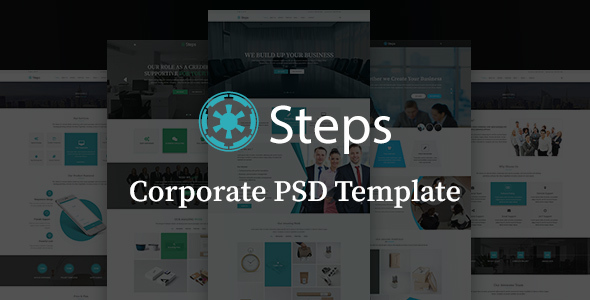 Steps - Modern Corporate PSD Template