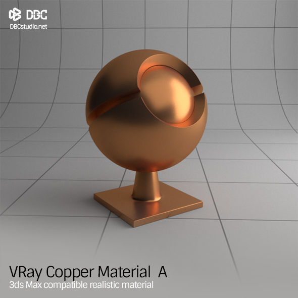 Vray copper material tutorial for Mirror vray material