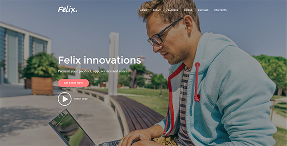 Download Felix. - App & Service Landing Page nulled download