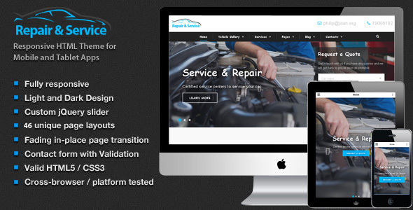 Repair & Service Car - Theme for Mechanic Workshops, Auto Repair and Cars