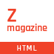 Zmagazine - News & Magazine HTML Template