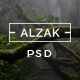ALZAK - One Page Creative PSD