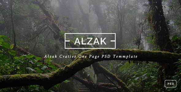 ALZAK - One Page Creative PSD