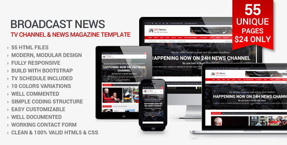 24h news broadcast news tv channel and news magazine template 24h news broadcast news tv channel and news magazine template corporate maxwellsz