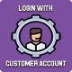 Login with customer account