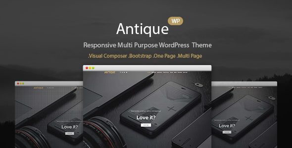 Download Antique - Responsive Multi-Purpose WordPress Theme nulled download