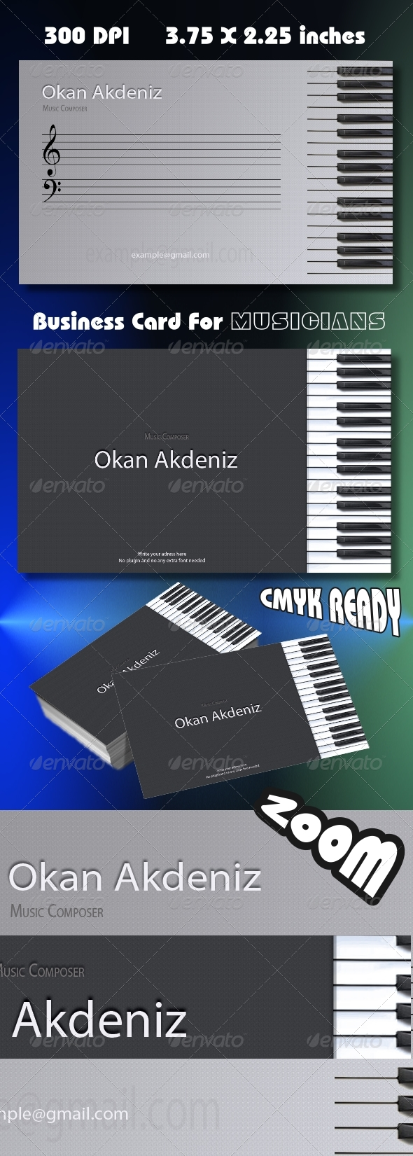 GraphicRiver Musician Business Card 222360