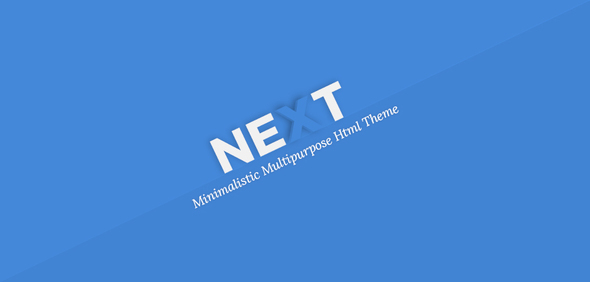 NEXT - Minimal Multipurpose Html Theme