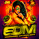 EDM Electro House Music Underground Party Flyer