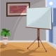 White Board for Presentation in an Office