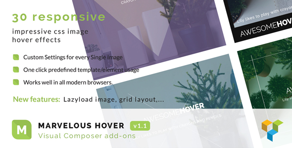 Marvelous Hover Effects | Visual Composer Add-ons | WordPress plugin - CodeCanyon Item for Sale