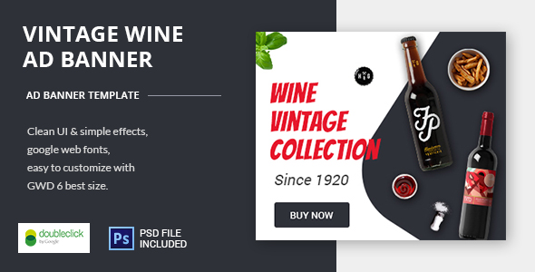 Download Wine - HTML Animated Banner