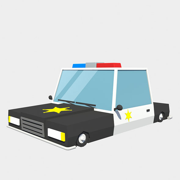 police car low poly - 3DOcean Item for Sale