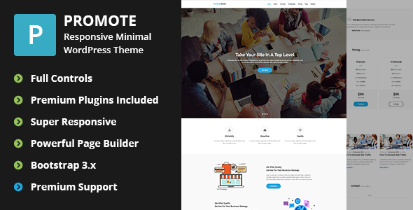 Download Promote - Digital Marketing Agency WordPress Theme nulled download
