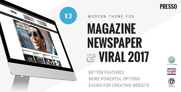 PRESSO - Modern Magazine / Newspaper / Viral Theme