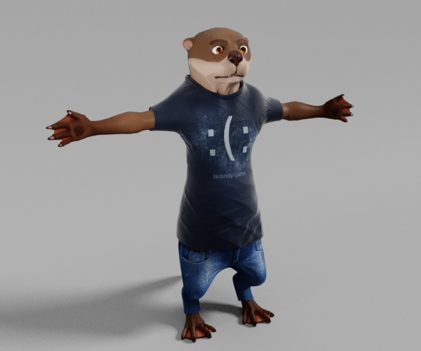 Otter Character - 3DOcean Item for Sale