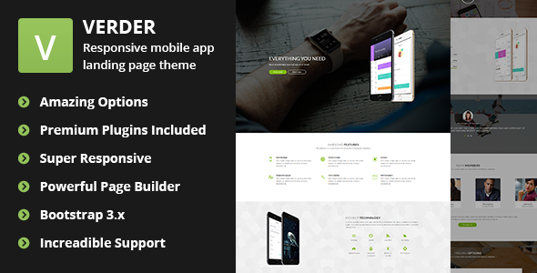 Download Verder - Responsive WordPress App Theme nulled download