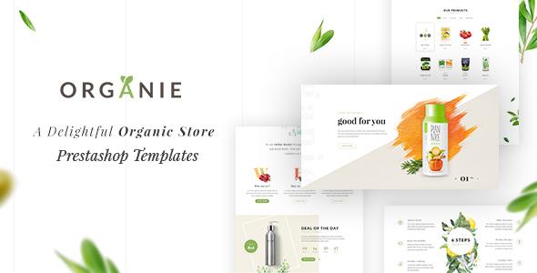 Organie – A Delightful Organic Store eCommerce Prestashop Theme (Shopping)