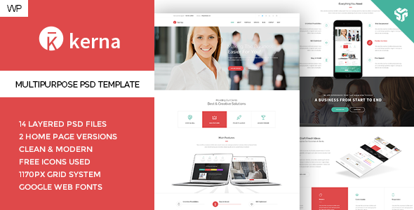 Kerna - Responsive Multi-Purpose WordPress Theme