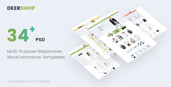 DeerShop | Multi-Purpose Responsive Ecommerce PSD Template