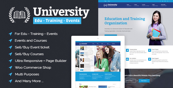 Download University - Education, Event and Course HTML Template