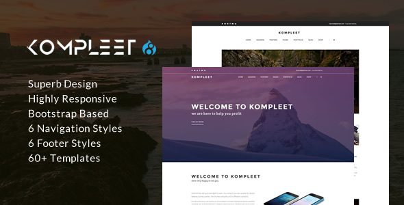 Kompleet - Creative & Flexible Responsive Multipurpose Drupal 8 Theme