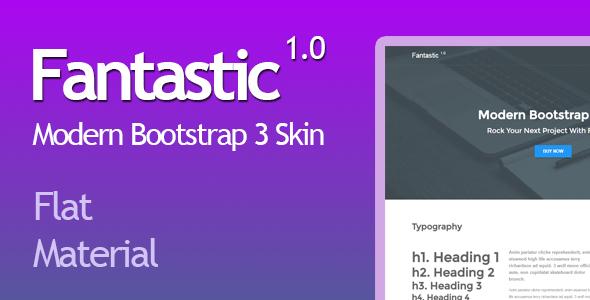 Fantastic - Modern Bootstrap 3 Skin