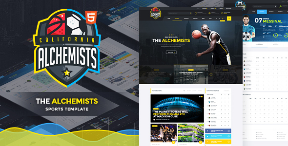 Alchemists - Basketball, Soccer Sports Club and News HTML Template