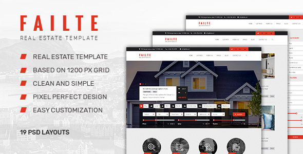 Failte — Sale/Rent Real Estate PSD Template