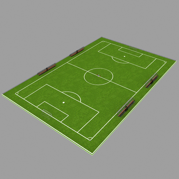 Football Field - 3DOcean Item for Sale