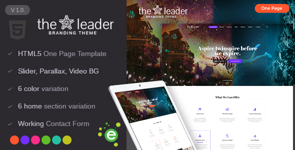 The Leader - Creative Business HTML Template