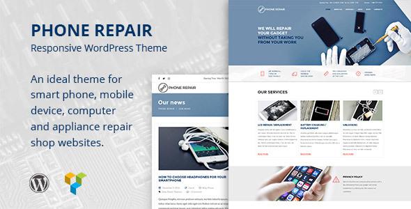 Telephone Repair – Mobile, Cell Telephone and Laptop or computer Repair Organization WordPress Theme (Organization)
