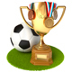Gold Cup and Soccer Ball