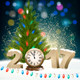 New Year Background With a 2017 and Santa Hat