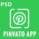 Pinvato Mobile App  - PSD Template
