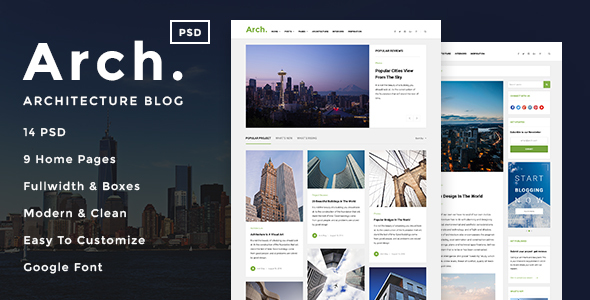 Arch - Architecture Blog PSD Template