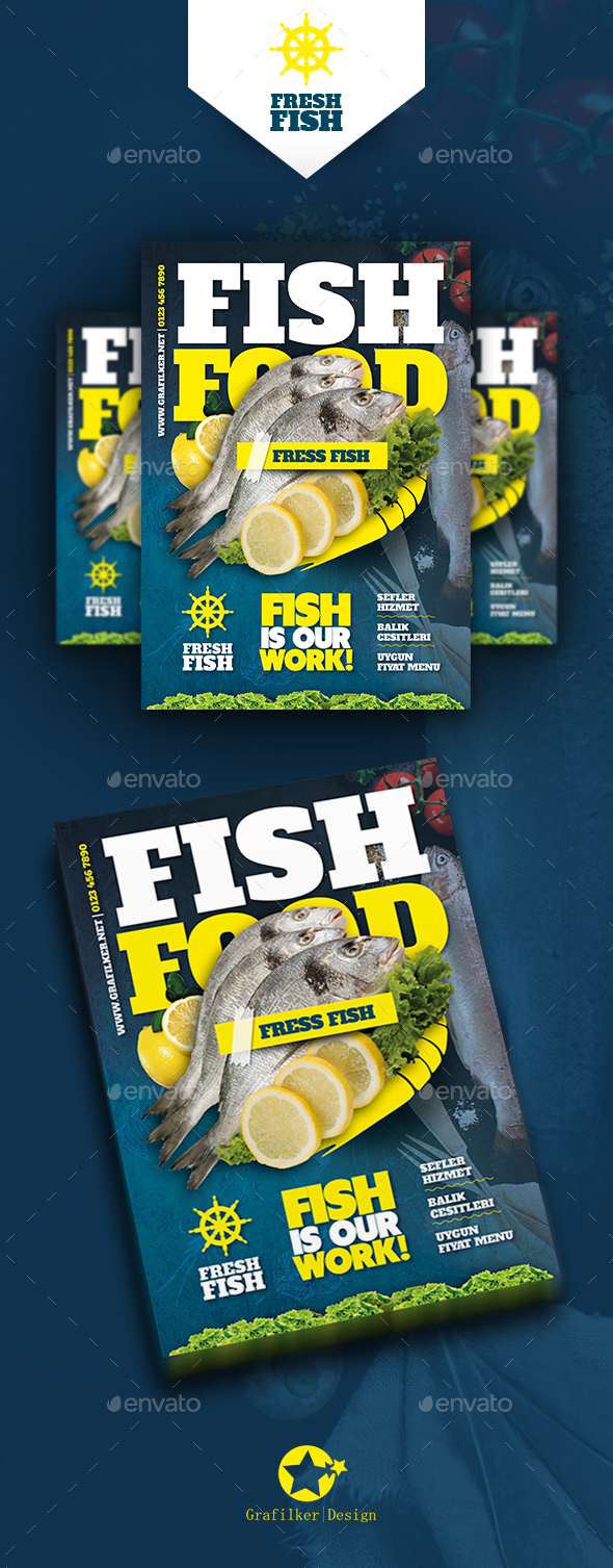 Seafood Restaurant Flyer Templates