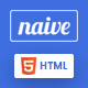 Naive - Material Design Responsive HTML App Landing Page