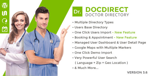 DocDirect - Responsive Directory WordPress Theme for Doctors and Healthcare Profession