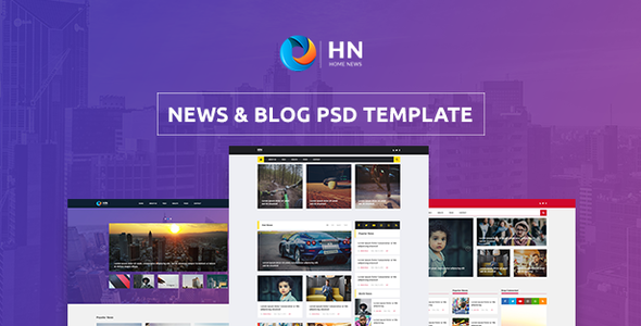 Home News - News and Blog PSD Template