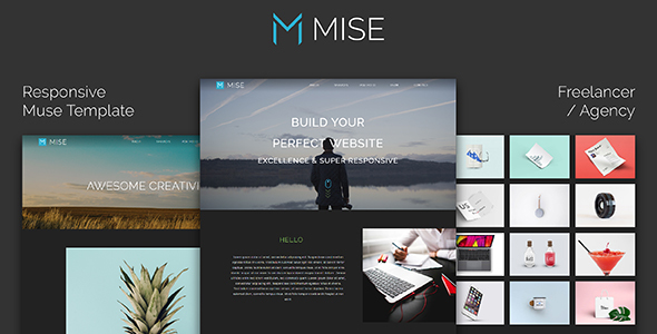 MISE_Responsive Muse Template for Freelancer / Agency